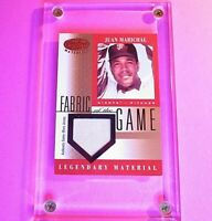 2001 Leaf Certified Fabric Of The Game Legendary Used JERSEY #38 Juan Marichal