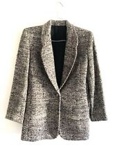 Doncaster Silk Womens Size 8 Gray Tweet Suits One Button Blazer