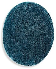 Teal Blue Toilet Lid Cover Elongated Soft Top Non Slip Plush Nylon Washable Bath