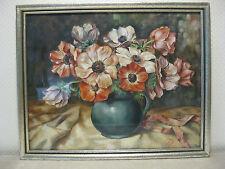 Altes Aquarell Holz Rahmen - 45 cm x 37cm - signiert Ott Fossati ? Blumen Vase