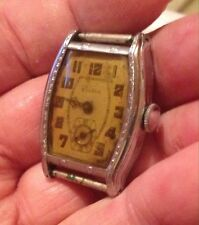 Vintage 1927 Art Deco LONE EAGLE 10AL Bulova mens watch! Period Buckle!! 4U2FIX!