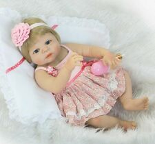 "Full Silicone Vinyl body Reborn Doll Baby Girl Lifelike Realistic 22""/57cm Gifts"