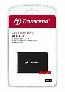 Transcend RDF9 Card Reader USB3.1 for CF/SD/SDHC/SDXC/Micro SD SDHC SDXC AU