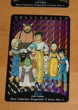 DRAGON BALL Z DBZ HERO COLLECTION PART 3 CARD RARE PRISM CARTE 319 MINT NEUF