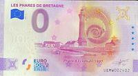 BILLET 0  EURO LES PHARES DE BRETAGNE ANNIVERSARY  FRANCE  2021 NUMERO DIVERS