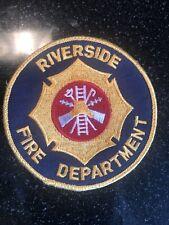 Riverside fire department patch