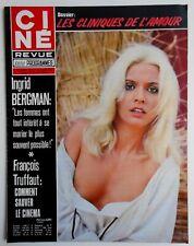 ►CINE REVUE 27/1973-PATRICIA GORI-INGRID BERGMAN-BURT REYNOLDS-ALBERT PREJEAN...