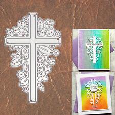 Easter Cross w Flowers & Leaves Cutting Die – Spring Resurrection Christ Symbol