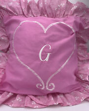 "DISNEY INITIAL LETTER ""G"" ACCENT PILLOW COVER CASE, PINK - LOT OF (4) CASES"