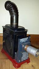 vintage MAGIC LANTERN  antique movie slide tin projector w curved stack