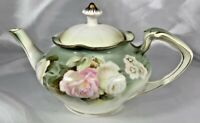 Antique RS Prussia 1890 - 1910 ca Tea Pot with Lid