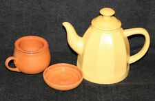 Chantal Ceramic Teapot Yellow with Clay Cup & infuser Lid .75 Qt 2003 92-TP12Q