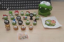 CUT THE ROPE NOMMIES SERIES - FULL SET w gold miniature collcetible figures +BPZ