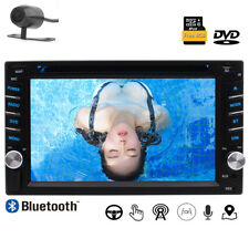 """HD GPS Navigation WinCE 6.2"""" Double 2DIN Car Radio Stereo DVD Player Camera"""