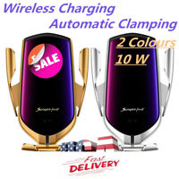 Wireless Charger Automatic Clamping Smart Sensor Car Mount Phone Holder Rack NEW