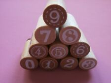 *Woodies *Wooden Number Stamps x 9