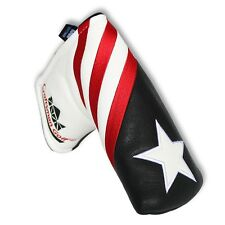 Craftsman Golf Black White Red Stripes USA Star Blade Putter Cover Headcover