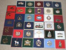 Complete Set / Lot (36) White House Historical Association Ornaments 1981 - 2016
