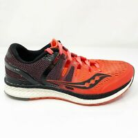 Saucony Womens Liberty ISO S10410-2 Red Black Running Shoes Lace Up Size 8.5