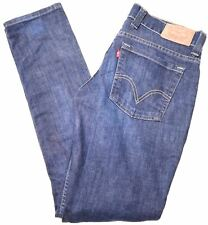 LEVI'S Womens Jeans W31 L32 Blue Cotton Slim  GZ04