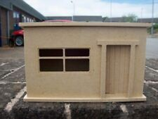 1:24 Scale Large Flat Pack Wooden MDF Garden Tool Shed Dolls House Miniature Kit