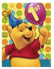 WINNIE THE POOH 1ST BIRTHDAY PARTY INVITATIONS Fill-In Disney Boys Girl Baby NEW