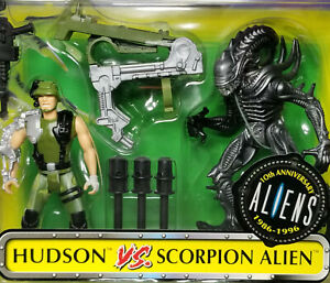 Aliens VS Marine Hudson vs ScorpionKenner Act Figures MOC Exc. - Nr Mint card