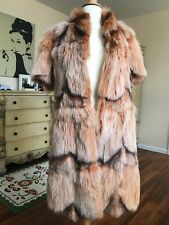 Beautiful Natural Fox Fur Coat s.S color Peach/ginger