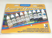 Jacquard Lumiere Neopaque Exciter Starter Pack Fabric Leather Acrylic Paint