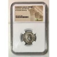 Romano-Gallic Empire Postumus, AD 260-269 NGC  ***Rev. Tye's Stache*** #3380113