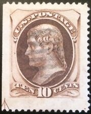 Scott #161, 10c Continental, light cancel, arrow bot left, 2002 PF cert enormous