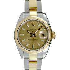 ROLEX - Ladies 26mm 18kt Gold & SS DateJust Champagne Index 179163 - SANT BLANC