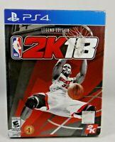 NBA 2K18: Legend Edition (Sony PlayStation 4, 2017) New sealed !