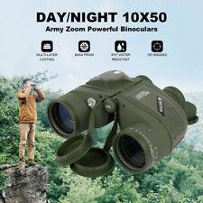 10X50 Day/Night Binoculars & Rangefinder Compass Waterproof Outdoor Hunting Bird