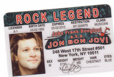 Jon Bon Jovi novelty collectors id card Drivers License Starr
