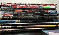 Graphic Novel Lot Of 13 Marvel Ex Machina DC Comics Dark Horse Books