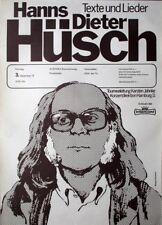 HÜSCH, HANS DIETER - 1973 - Konzertplakat - Concert - Tourposter - Braunschweig