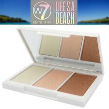 W7 Cosmetic Life's a Beach Highlighter Trio Powder Shades Highlight Sculpt Blush