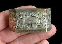 "Antique Bright Cut sterling silver Napkin Ring ""D"" monogram"