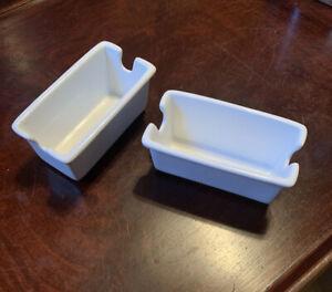 Retro Ceramic Sugar Packet Container/Holder - Lot of 2