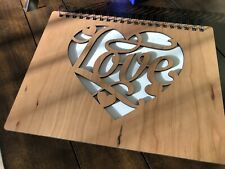 Cherry Wood Guest Book Custom Engraving For Weddings, Graduations, Event