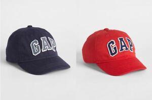 New Gap Kids Logo Red Navy Blue Twill Cotton Hat Patch Baseball Cap XS/S S/M M/L