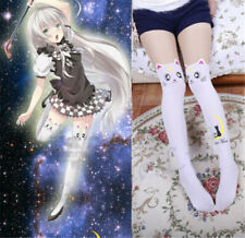 Sailor Moon Cosplay 20th Anniversary Cat Luna Pantyhose Tight Stockings White