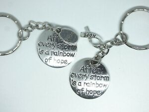 After Every Storm Is A Rainbow of Hope Keyring Bag Gift Inspirational Quote