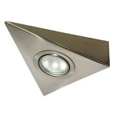 Unterbauleuchte Möbelleuchte Dreiecksleuchte Küche Schrank Halogen 20W verchromt