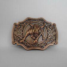 Copper  Bull  Metal Belt Buckle