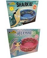 Aufblasbar Hai Oder Meerjungfrau Paddelnd Jungen Mädchen Schwimmbad Kinder