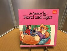 Vintage 1986 McDonald's Book An American Tail - Fievel and Tiger