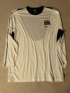 Nike USA Basketball Olympics LS Shooting Shirt XL