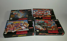 Street Fighter Alpha 2 + SF II + Super + Turbo Super Nintendo SNES Complete CIB